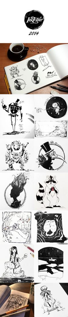Jake Parker created Inktober in 2009 as a challenge to himself to improve his drawing and inking skills while also encouraging good drawing habits. Every October, artists everywhere draw one ink drawing per day for the entire month. There are some of my d…
