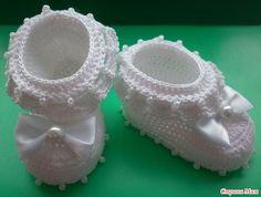 zapatitos para bebe recien nacido en crochet