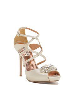 Fischer Strappy Peep Toe High Heel