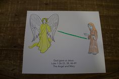 """Sample craft for 3-5s, Week 1, """"The Angel and Mary"""" Sunday School Activities, Christmas Jesus, Bible Crafts, Special Delivery, Bible Stories, Toddler Crafts, Curriculum, Toddlers, December"""