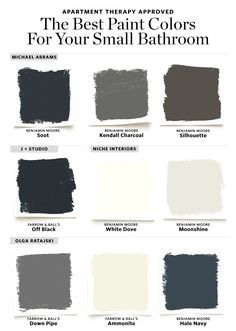 16 Perfect Paint Shades for Your Bathroom - Here are the Best Paint Colors for Your Small Bathroom - Small Room Design, Bathroom Design Small, Designs For Small Bathrooms, Small Bathroom Ideas, Small Bathroom Inspiration, Bathroom Images, Small Bathroom Paint Colors, Best Color For Bathroom, Colors For Bathroom Walls