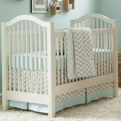 Taupe Zig Zag Three-piece Crib Bedding Set | Carousel Designs