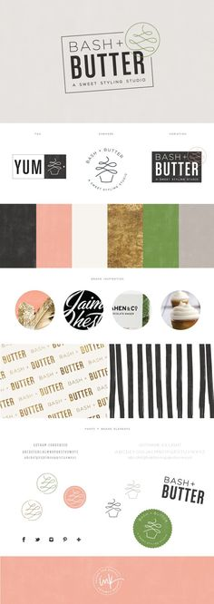 Brand Launch: Bash + Butter - Salted Ink Design Co. | Final Brand Board |