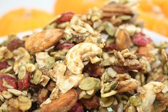 Ingredients 1 cup Almonds, soaked 1 cup Pecans, soaked 1 cup Pumpkin seeds, soaked 1 cup sunflower seeds, soaked 1 cup cashews 1 cup shaved coconut 1 cup raisins 1 cup cranberries 2 cups fresh pumpkin, cubed 1 cup maple syrup 1 1/2 teaspoons sea salt 1 1/2 tablespoons Pumpkin Pie Spice Directions Almonds should …