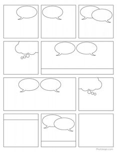 7 Best Images of Comic Book Panels Printable - Printable Comic Strip Paper, Printable Blank Comic Book Pages and Blank Comic Book Panels Templates Teaching Writing, Teaching Spanish, Writing Activities, Teaching Empathy, Comic Strip Template, Comic Strips, Cartoon Template, Free Comic Books, Blank Comic Book Pages