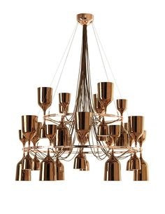 Copper Copacabana Queen Chandelier by Jaime Hayon