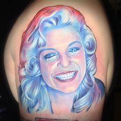 Twin Peaks Sleeve - Laura Palmer / Sheryl Lee by David Corden #TwinPeaks #Tattoo #LauraPalmer #SherylLee #DavidCorden #FireWalkWithMe #FWMM