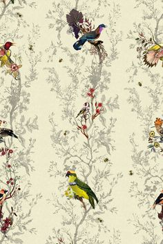Timorous Beasties - Wallcoverings - Birds n Bees
