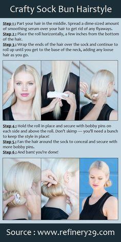 Pinterest Hairstyles: Crafty Sock Bun Hairstyle