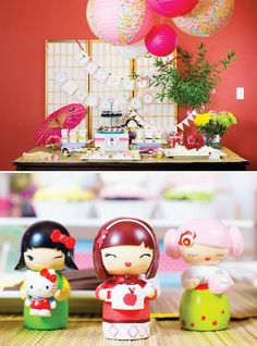 Colorful Japanese Little Kokeshi Birthday Party - Fiesta colorida japonesa