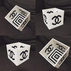 Chanel inspired box perler beads by mackey.28