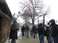 The infamous entrance to Auschwitz-Birkenau concentration camp