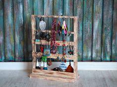 Cadeau Chic minable, chambre blanche Decor, stockage de bijoux en bois, bijoux Rustic Decor, Decor cadeau, organisation de la boucle d'oreille, bijoux en bois affichage-clés