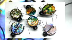 Polymer clay Jewel bugs with CD's