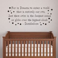 "Dumbledore Harry Potter Girl or Boy Room Kid Baby Nursery Decorative Vinyl Lettering Wall Decal Quote Sticker(Black, 8""h x20""w)"