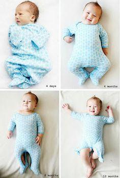 10 Ideias super fofas para fotografar seu bebê mês a mês   Mãe de Guri