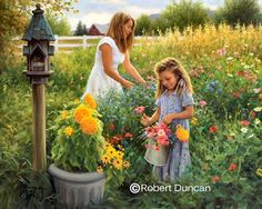 picking flowers ....Robert Duncan  I have this one and love the colors.  My pick-me-up pic for cloudy, cold days