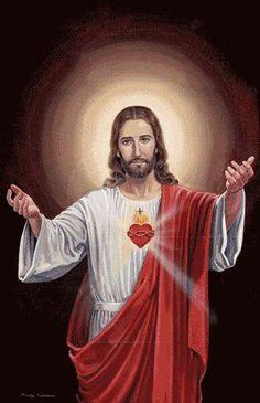 Sacred Heart of Jesus Life Of Jesus Christ, Jesus Our Savior, Pictures Of Jesus Christ, Christ The King, Jesus Art, Heart Of Jesus, Jesus Lives, Jesus Is Lord, Croix Christ