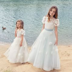 Compliment her on that all-important day with our wide selection of #flowergirl dresses from ivory to pastels shades.