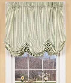 Country Curtains Ticking Stripes Balloon Curtain ... Girls' room!