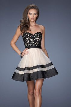 5a9339adbb1 2014 New Arrival Dresses Sweetheart A Line Princess Mini Bicolor  Organza amp Lace High Quality