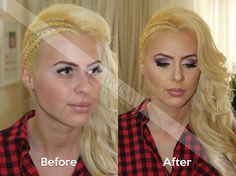 #makeup #beautifulblonde #beforeandafter