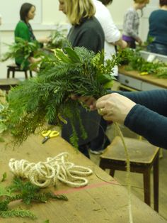 Lots of happy people making wreathes.  http://www.belhavenfruitfarm.co.uk/the-store.aspx