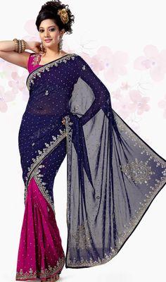#Embroidered Wedding #Saree In #Lehenga Style #Design | @ $113.28