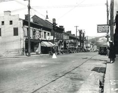 Looking East on Main Street at the intersection of Wayne Avenue.  Photo was taken around 1930.