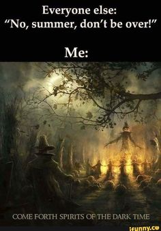 Tagged with fall, spooky, autumn, equinox; Spooky times are just around the corner Halloween Meme, Halloween Quotes, Halloween Horror, Holidays Halloween, Halloween Crafts, Happy Halloween, Halloween Stuff, Spooky Memes, Halloween Countdown