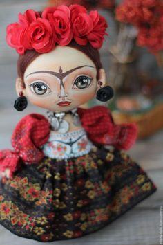 Купить Интерьерная текстильная кукла многоликая Фрида - интерьерная кукла, текстильная кукла, кукла текстильная