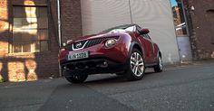 Nissan Juke 2012 Tekna 1.6 Rot: Außen Vorne Links vor Tor