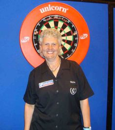 A pleasant surprise to see at the 2010 Grand Slam of Darts, Tricia Wright.