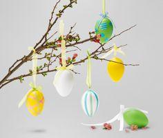 6 húsvéti tojás szettben, műanyag 290493 a Tchibo-nál.