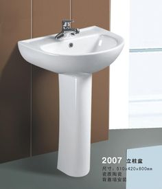 Item No.:TP-20122007  Economic Basin with Pedestal 1.New style,Self-clean glaze 2.Single or three tapholes 3.Competitive price,top quality. Material:Ceramic Size:510*420*800mm Fixing to wall with back. Min. Order Quantity:100Pieces Payment Terms:T/T only Delivery Time:30-40 days.Packaging Details:5 layer standard exporting master carton; extra packing patterns are provided as per customers' request.If you want to buy it, please email us at tophandvip@foxmail.com.