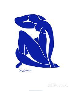De versie 'Blauw Naakt' van Matisse uit 1952, de variant die ik na die van Picasso kocht