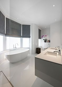 House of Books is a private residence located in London, England. The home was remodeled by SHH Architects in 2015 and covers an area of 4,000 square feet.. #bathroom #interior #home