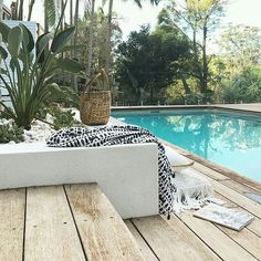 If you are working with the best backyard pool landscaping ideas there are lot of choices. You need to look into your budget for backyard landscaping ideas Outdoor Areas, Outdoor Pool, Outdoor Decor, Pool Patio Furniture, Plunge Pool, Pool Houses, Pool Designs, Backyard Landscaping, Landscaping Ideas