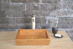 Beautiful bamboo vessel basin for the bathroom. Available from www.uniquesinks.com.au