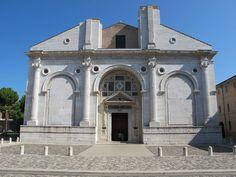 RINASCIMENTO 1400 - 1540 Tempio malatestiano, esterno -LEON BATTISTA ALBERTI (1450)