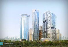 Kuningan Persada Masterplan, Jakarta - Kuan Studio / 3D Visualization 3d Visualization, Jakarta, Skyscraper, Multi Story Building, Exterior, Studio, Image, Architecture, Skyscrapers