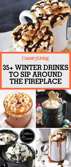 These winter drinks are perfect to sip around the fireplace this Christmas. Give ordinary hot cocoa a chocolatey kick with marshmallows, crushed hazelnuts, chocolate chips and a drizzle of Nutella.