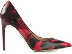 Red and Black Camo? Shoe La La!    Valentino Garavani camouflage pumps