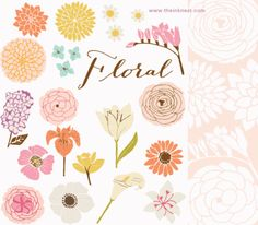 CLIP ART - Floral - for commercial and personal use
