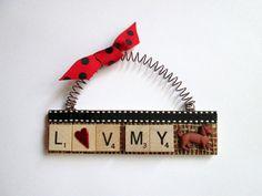 Love my Dachsund Scrabble Tile Ornament by ScrabbleTileOrnament