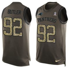 Nike Panthers #92 Vernon Butler Green Men's Stitched NFL Limited Salute To…
