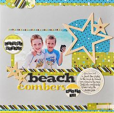 Simple Scrapbook Layouts | simple layout about a great day spent on the beach in Cozumel. My ...