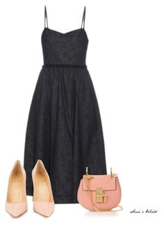 """""""Denim Dress"""" by sonies-world on Polyvore featuring Tomas Maier, Christian Louboutin and Chloé"""