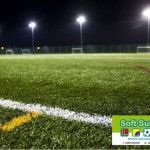 It is vital to carry out rubber infill maintenance on a 3G pitch by using a drag brush to spread the rubber crumb around through the grass fibres to prevent them from becoming compacted.