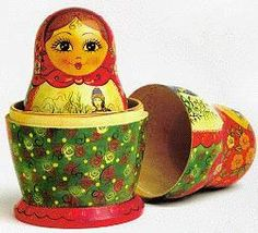 "The word matryoshka is literally ""little matron"".  The dolls were originally made to symbolize motherhood..."